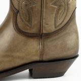 Mayura Boots 1920 Taupe/ Pointed Cowboy Western Line Dance Ladies Men Boots Slanted Heel Genuine Leather_9