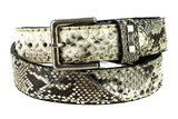 Mayura Belt 1020 White Natural Python 4cm Wide Removable Buckle_9