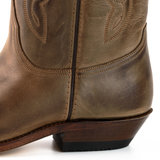 Mayura Boots 20  Chestnut Brown/ Unisex Cowboy Western Boots Pointed Toe Slanted Heel Ornamental Stitching Instep Waxed Leather_9