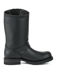Mayura Boots 18 Black/ Biker Ladies Men Motorcycle Boots Round Toe Oil Resistant Sole Genuine leather