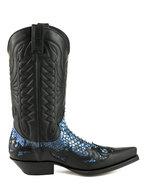 Mayura Boots 1935 Zwart met Blauw Python
