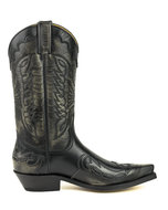 Mayura-Boots-1927-Black--Pointed-Cowboy-Western-Men-Women-Boot-Heels-Two-Tone-Genuine-Leather