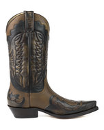 Mayura-Boots-1927-Brown--Pointed-Cowboy-Western-Men-Women-Boot-Heels-Two-Tone-Genuine-Leather