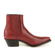 Mayura-Boots-2496-Red--Pointed-Western-Ankle-Boot-Ladies-Slanted-Heel-Elastic-Closure-Smooth-Leather