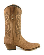 Mayura-Boots-Alabama-2524-Cognac-Lavado--Women-Western-Boot-Python-Print-Pointed-Toe-5-cm-Heel-High-Shaft-Genuine-Leather