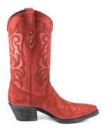 Mayura-Boots-Alabama-2524-Red-Lavado--Women-Western-Boot-Python-Print-Pointed-Toe-5-cm-Heel-High-Shaft-Genuine-Leather