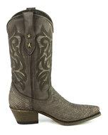 Mayura-Boots-Alabama-2524-Testa-Lavado--Brown-Women-Western-Boot-Python-Print-Pointed-Toe-5-cm-Heel-High-Shaft-Genuine-Leather