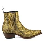 Mayura-Boots-2496P-Natural-Python-Women-Western-Ankle-Boots-Pointed-Toe-Cowboy-Heel-Elastic-Closure-Genuine-Leather