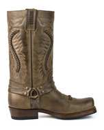 Mayura-Boots-02-Brown--Biker-Western-Men-Women-boots-Square-Toe-Fixed-Spur-Braided-Oil-Resistant-Sole