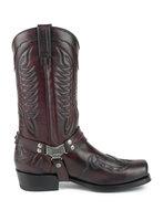 Mayura-Boots-Indian-2471-Bordeaux--Cowboy-Biker-Boots-men-Square-Nose-Flat-Heel-Detachable-Spur-Genuine-Leather
