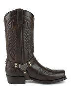 Mayura-Boots-Indian-2471-Chesnut--Cowboy-Biker-Boots-men-Square-Nose-Flat-Heel-Detachable-Spur-Genuine-Leather