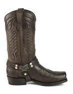 Mayura-Boots-Indian-2471-Brown--Cowboy-Biker-Boots-men-Square-Nose-Flat-Heel-Detachable-Spur-Genuine-Leather