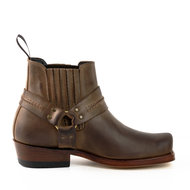 Mayura-Boots-04-Brown--Cowboy-Western-Ankle-Boot-Men-women-Square-Toe-Fixed-Spur-Elastic-Closure