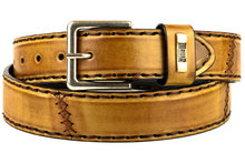 Mayura-Belt-925-Whisky-Cowboy-Western-4-cm-Wide-Jeans-Belt-Changeable-Buckle-Smooth-Leather