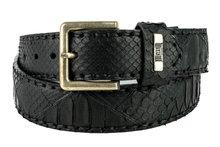 Mayura-Belt-1020-Black-Python-4cm-Wide-Removable-Buckle