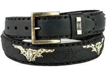 Mayura-Belt-1322S-Black-Skull-Conchos-Natural-Python-4cm-Wide-Changeable-Buckle
