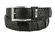 Mayura-Belt-214-Black-Crocodile-Python-4cm-Wide-Removable-Buckle