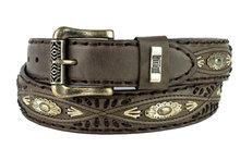 Mayura-Belt-338-Chesnut-Cowboy-Western-Concho-Braid-4cm-Wide-Removable-Buckle