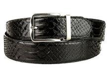Mayura-Belt-810P-Black-Python-3.5cm-Wide-Removable-Buckle