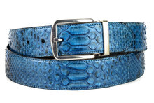 Mayura-Belt-810P-Blue-Python-3.5cm-Wide-Removable-Buckle
