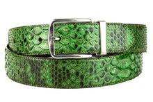 Mayura-Belt-810P-Green-Python-3.5cm-Wide-Removable-Buckle