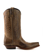 Mayura-Boots-20--Chestnut-Brown--Unisex-Cowboy-Western-Boots-Pointed-Toe-Slanted-Heel-Ornamental-Stitching-Instep-Waxed-Leather
