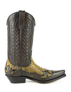 Mayura-Boots-1935P-Bruin--Camel-Phyton-Pointed-Cowboy-Western-Boots-Slanted-Heel-Straight-Shaft-Pull-Loops-Goodyear-Welted