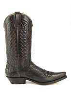Mayura-Boots-1935P-Bruin-Brown-PhytonPointed-Cowboy-Western-Boots-Slanted-Heel-Straight-Shaft-Pull-Loops-Goodyear-Welted