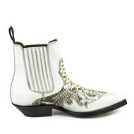 Mayura-Boots-Rock-2500-Off-White--Natural-Python-Pointed-Western-Men-Ankle-Boot-Python-Slanted-Heel-Elastic-Closure-Vintage-Look