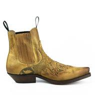 Mayura-Boots-Rock-2500-Hazelnut--Pointed-Western-Men-Ankle-Boot-Python-Slanted-Heel-Elastic-Closure-Vintage-Look