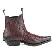 Mayura-Boots-Rock-2500-Red--Pointed-Western-Men-Ankle-Boot-Python-Slanted-Heel-Elastic-Closure-Vintage-Look