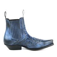 Mayura-Boots-Rock-2500-Blue--Pointed-Western-Men-Ankle-Boot-Python-Slanted-Heel-Elastic-Closure-Vintage-Look