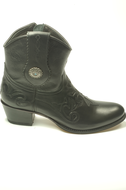 Sendra-14399-Debora-Black-Ladies-Western-Ibiza-Ankle-Zipper-Closure-Round-Nose-Bit-Slanted-Heel